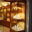 Jewellery shop window at night — Stock Photo