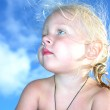 Portrait of a little baby child girl — Stock Photo