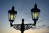 Decorative street lamp — Stock Photo