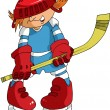 Little hockey player — Image vectorielle