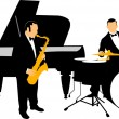 Stock Vector: Jazz orchestra