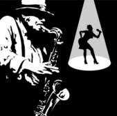 Sax mambo — Vecteur