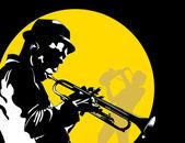 月亮爵士乐 — 图库矢量图片