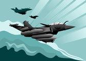 军用飞机 — 图库矢量图片