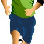 Man jogging — Stock Vector
