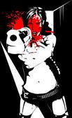 散弹枪 — 图库矢量图片