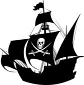 Pirate schooner — Vetorial Stock