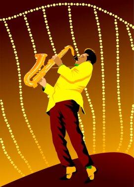 Retro saxophone