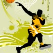 Stock Vector: Background basketball player