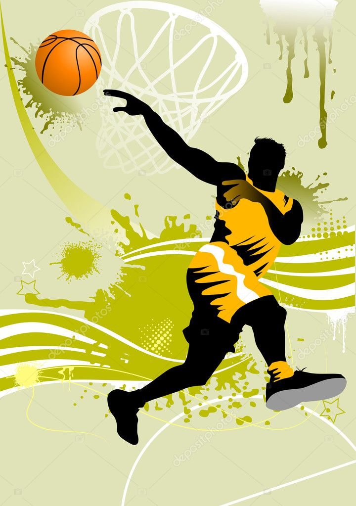 Background basketball player — Stock Vector © sababa66 ...
