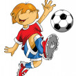 Soccer little player - Stock Vector