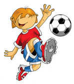 Soccer little player — Vetorial Stock
