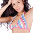 Beautiful young woman in bikini — Stock Photo