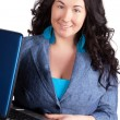 Young business woman on a laptop — Stock Photo #6525791