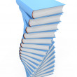 Stock Photo: Stacks of books isolated on white background