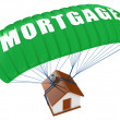 Mortgage concept isolated on white - Stock Photo
