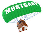 Mortgage concept isolated on white — Stock Photo