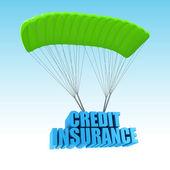 Credit Insurance 3d concept illustration — Stock Photo