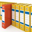 Stock Photo: Organized office folders