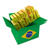 Made in Brazil. 3d concept illustration isolated on white — Stock Photo