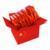 Made in China. 3d concept illustration isolated on white — Stock Photo