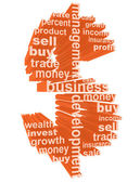 Dollar symbol made from business tags 3d concept illustration — Stock Photo