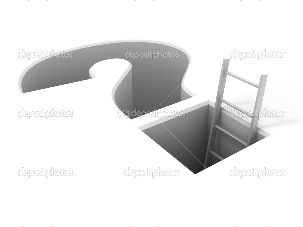 A ladder leading from the problem — Stock Photo #5807322