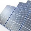 Solar plant. Renewable energy concept on white — Stock Photo