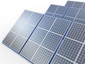Elektrownia słoneczna. koncepcja energii odnawialnej na biały — Zdjęcie stockowe