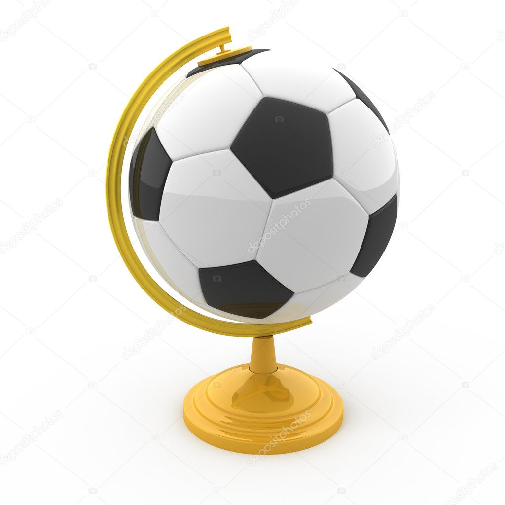 Soccer Terrestrial globe isolated on white — Stock Photo #6317946