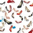 Set of beautiful modern women shoes — Stock Photo