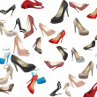 Set of beautiful modern women shoes — Stock Photo #6000527