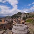 Taormina greek amphitheater in Sicily Italy — Stock Photo #5380756
