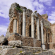 taormina greek amphitheater in sicily italy — Stock Photo #5380763