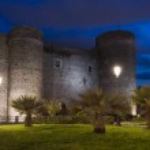 Ursino castle in Catania Sicily Italy — Stock Photo