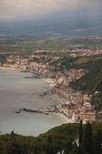 Mediterranean sea by Taormina in Italy Sicily — Stock Photo