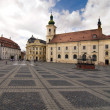 Main square historical arhitecture in Sibiu Transylvania Romania - Photo