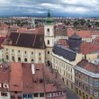 Panorama of old town Sibiu in Transylvania Romania — Stock Photo