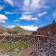 taormina greek amphitheater in sicily italy — Stock Photo #5994365