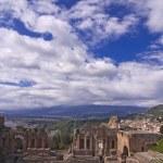 Taormina greek amphitheater in Sicily Italy — Stock Photo #5994368