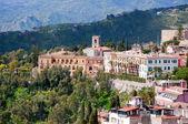 De stad taormina in sicilië italië — Stockfoto