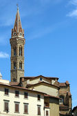 Tower of church Badia Fiorentina in Florence Firenze — Stock Photo