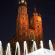 St Mary cathedral in main square in Krakow — ストック写真