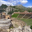 Taormina amphitheater — Stock Photo