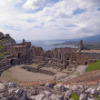 Taormina greek amphitheater in Sicily Italy — Stock Photo #6630673