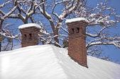 Chimney in winter — Stock Photo