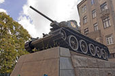 Russian soviet tank monument — Stock fotografie