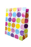 Designer spotty shopping bag — Stock Photo
