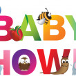 Royalty-Free Stock Obraz wektorowy: The words baby shower