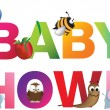 The words baby shower - 